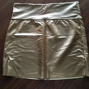 Gold American Apparel Miniskirt Medium